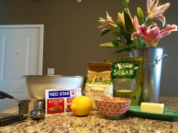 Easter Bunny Bread ingredients
