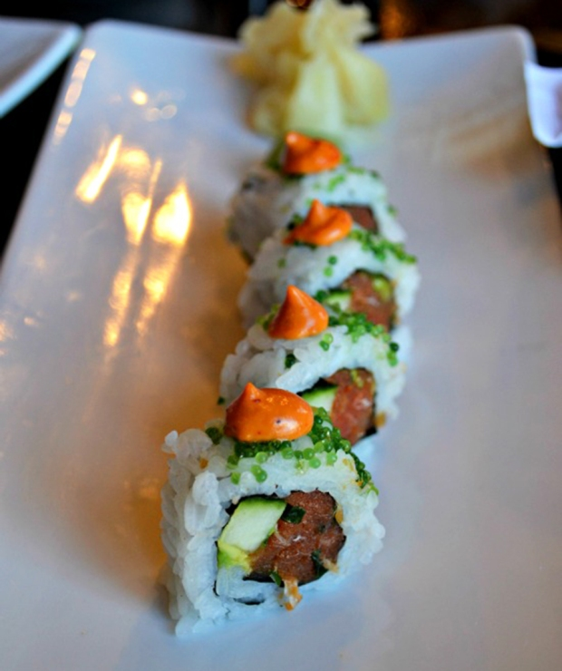 Angry Zengo Roll from Zengo Denver, asian/latin fusion fare.