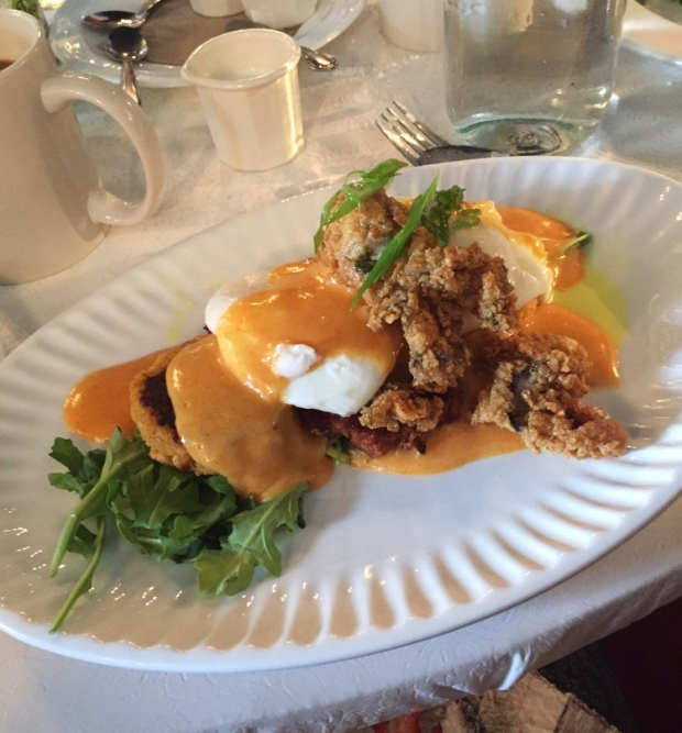 Cajun Benedict from Sassafras American Eatery in Jefferson Park, Denver. Best brunch in town!