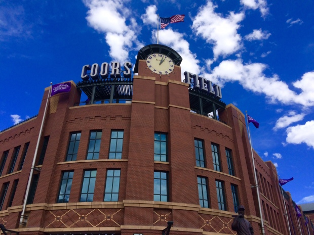 Coors Field in Denver for a Colorado Rockies baseball game!
