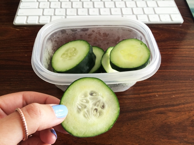 Cucumbers make a great snack