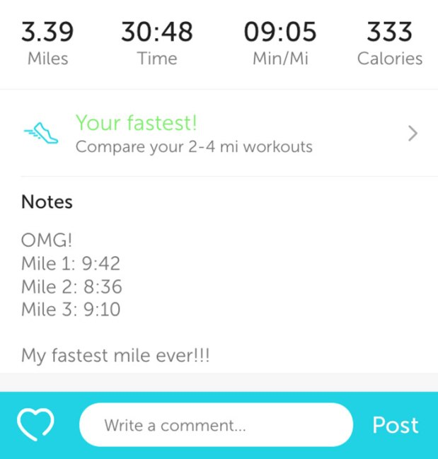 Running my fastest mile ever   THE REAL LIFE running, speed, fitness, workouts, miles, weight maintenance