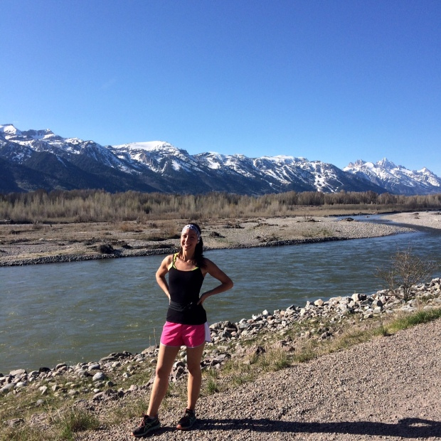 5-Mile Run at Emily's Pond Levee, Snake River Dike, Jackson Hole, Wyoming