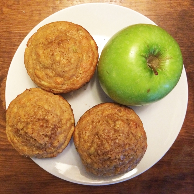 Apple muffins | THE REAL LIFE | food, recipes, meals, vegetarian, whole foods, cooking, healthy eating, fitness, eating
