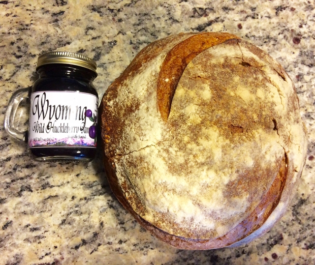 Persephone Bakery fresh baked bread and Wyoming Wild Huckleberry jam from Jackson Hole | THE REAL LIFE | food, recipes, meals, vegetarian, whole foods, cooking, healthy eating, fitness, eating