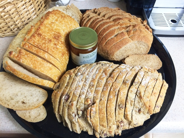 Fresh-baked bread and preserves from Kneaders Bakery & Cafe in Aurora | THE REAL LIFE | food, fitness, healthy eating, indulging, intuitive eating, weight maintenance, week recap, week after running a race