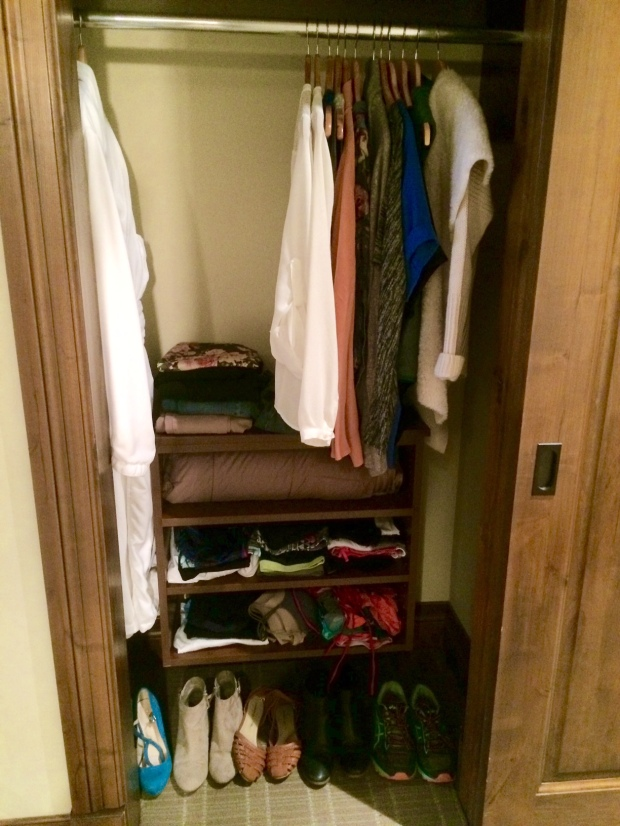 Closet, The White Buffalo Club hotel, Jackson Hole, Wyoming