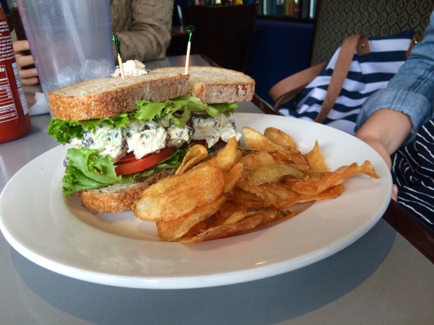 Chicken salad sandwich, E.Leaven Food Company, Jackson Hole, Wyoming