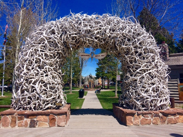 Elk Antler Arches, Jackson Hole, Wyoming