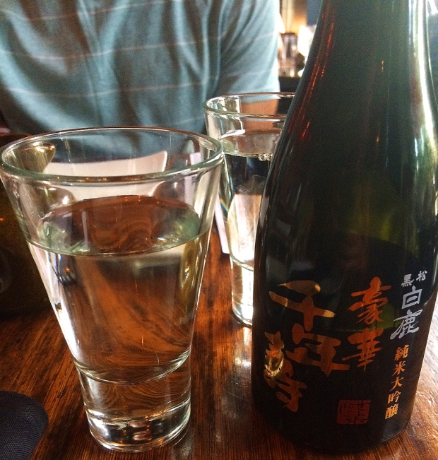 Karumatsu Hakushika Sake from Zengo Denver's new menu | THE REAL LIFE food, restaurants, Denver, foodie, Colorado eats