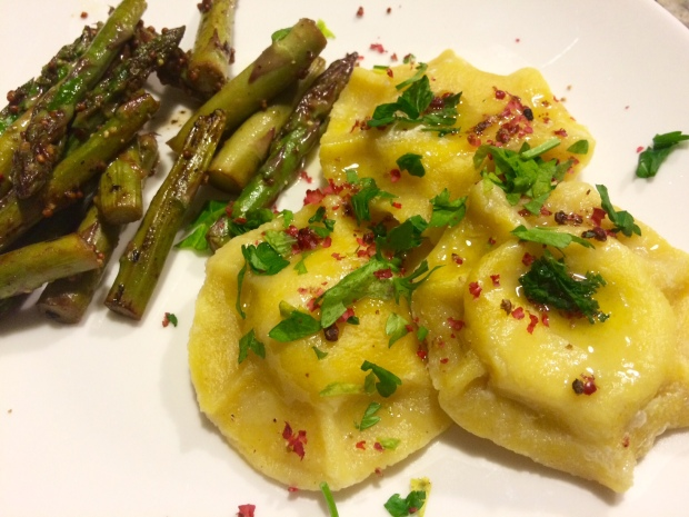 Lemon and goat cheese ravioli, Ottolenghi recipe