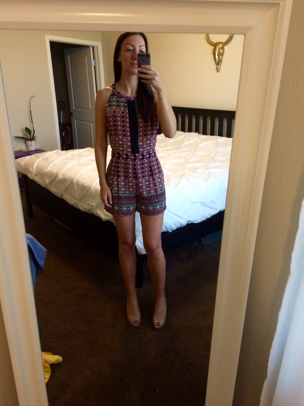 Zara romper from Stitch Fix! THE REAL LIFE fashion, clothing, style, outfits, summer attire, halter top, romper