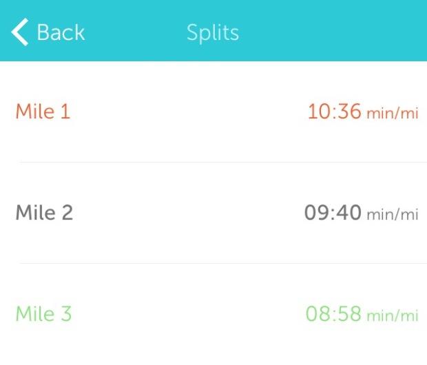 Run splits