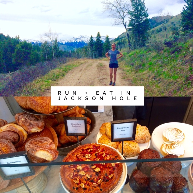 Running and eating in Jackson Hole, Wyoming