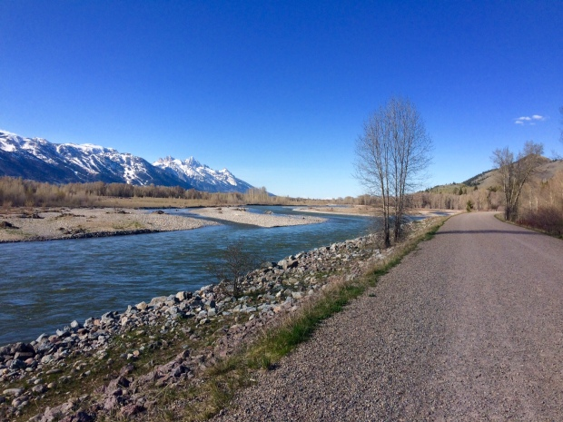 5 Mile Run at Emily's Pond Levee, Snake River Dike, Jackson Hole, Wyoming