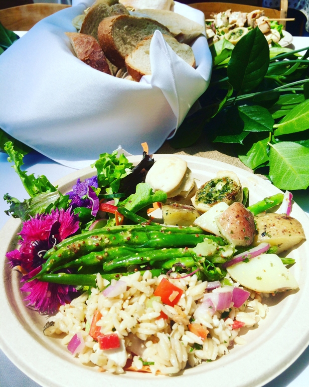 Delicious salad, potatoes, rice, and bread from the Denver Design District's May Market | THE REAL LIFE | food, recipes, meals, vegetarian, whole foods, cooking, healthy eating, fitness, eating