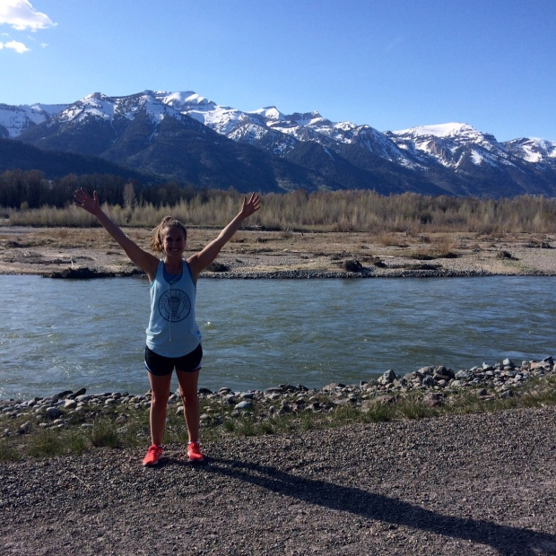 Sarah 5 Mile Run at Snake River in Jackson Hole, Wyoming