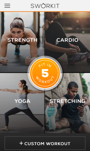 Sworkit Fitness App for exercise on the go