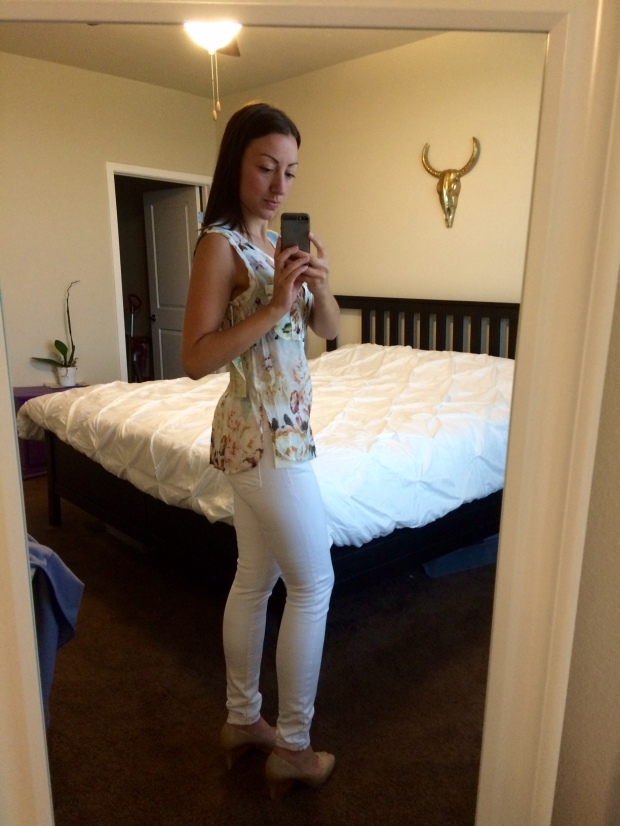 Dayna white skinny jeans from Stitch Fix! fashion, clothing, skinny jeans, summer attire
