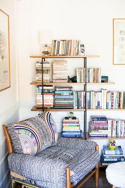 armchair and reading nook