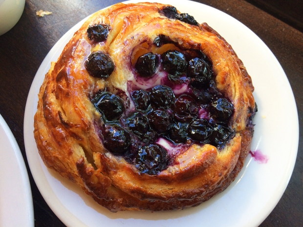 Blueberry Danish pastry at the Wooden Spoon Cafe and Bakery in the Denver Highlands