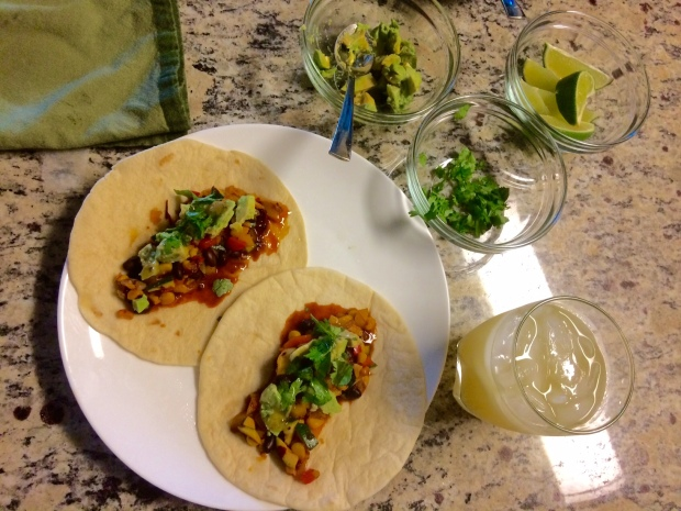 Date Night at Home, Margaritas and Tacos | THE REAL LIFE | food, recipes, Mexican, cocktails, drinks, vegetarian meals, healthy eating, thrifty date night ideas