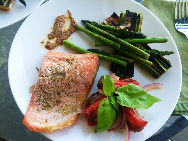 A Simple Salmon Dinner! | THE REAL LIFE | food, fitness, health, eating, recipes