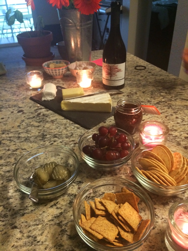 Wine, cheese, and fresh bread date night at home! | THE REAL LIFE Blog