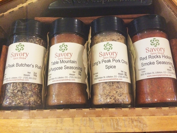 Close up of Front Range seasonings gift box, Savory Spice Shop in Littleton Colorado