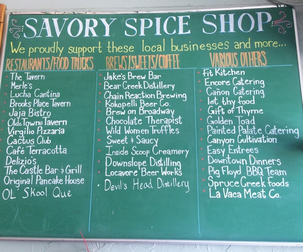 Local business supported by Savory Spice Shop in Littleton Colorado