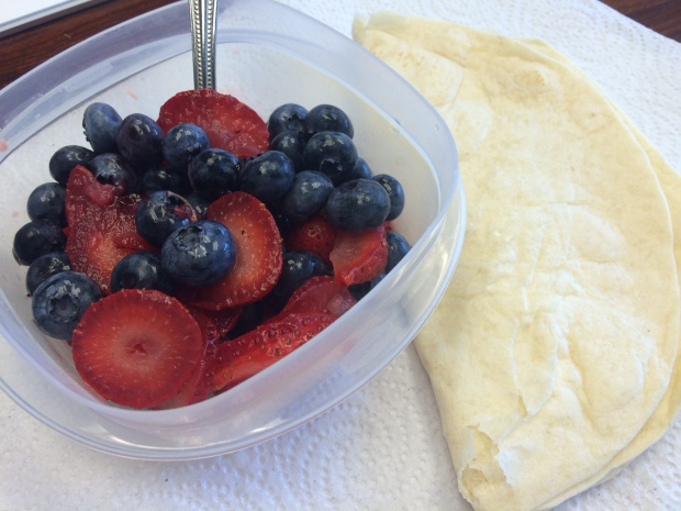 Berries and tortilla