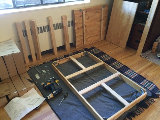 Building an Ikea dining table
