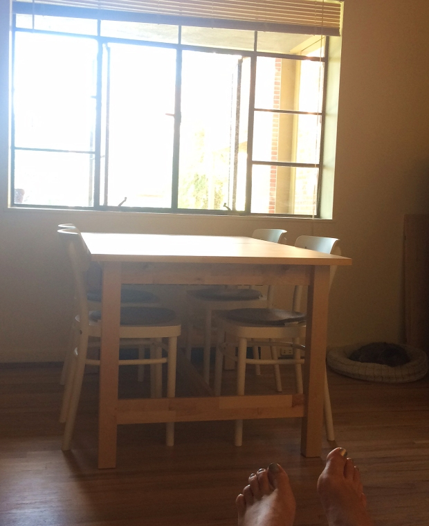 Finished Ikea dining table and chairs