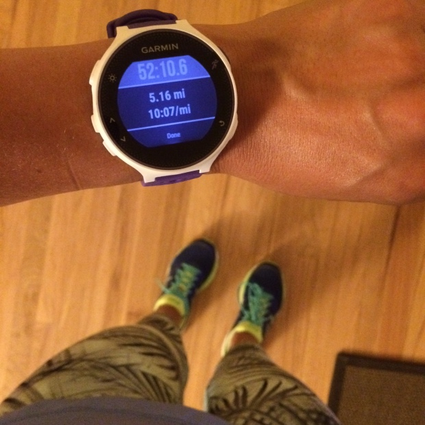 Garmin Forerunner 230 on my wrist
