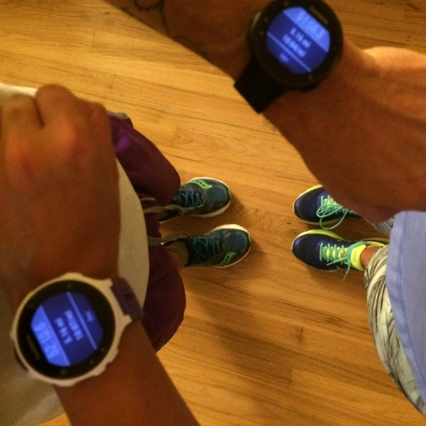 His and hers Garmin forerunner watches