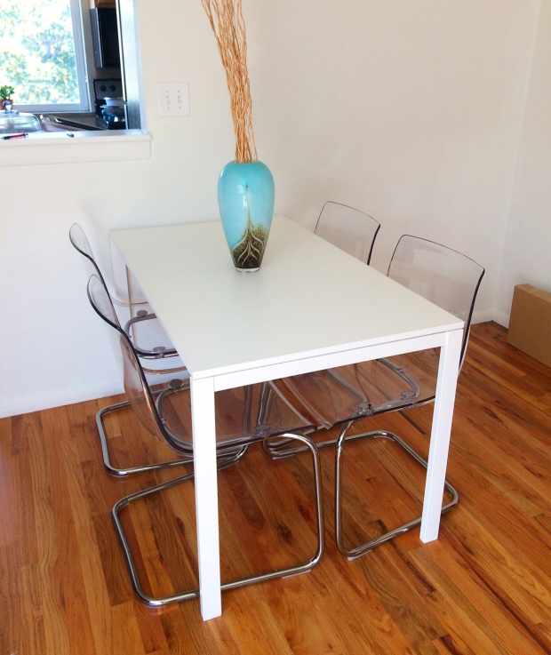 Ikea dining table and chairs | THE REAL LIFE BLOG | fitness, food, decor, lifestyle blogging, running, cooking, health, fashion, Denver, Colorado l