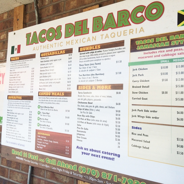 Tacos Del Barco, Steamboat Springs, Colorado | THE REAL LIFE Blog | food, fitness, exercise, health, fashion, lifestyle blogger, running, ultra marathons, Run Rabbit Run 50 Miles