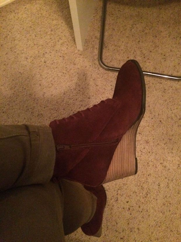 Skye Lace-Up Wedge Bootie, My Stitch Fix stylist just GETS me! My 7th Stitch Fix was a giant success! | THE REAL LIFE Blog | fashion, clothing, style, outfits, fitness, lifestyle, food