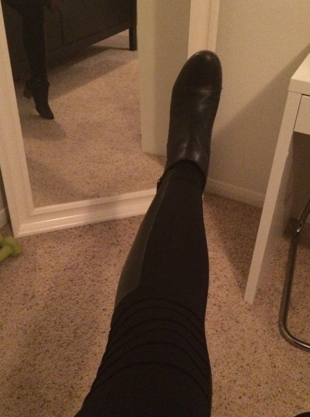 Black moto leggings! My Stitch Fix stylist just GETS me! My 7th Stitch Fix was a giant success! | THE REAL LIFE Blog | fashion, clothing, style, outfits, fitness, lifestyle, food