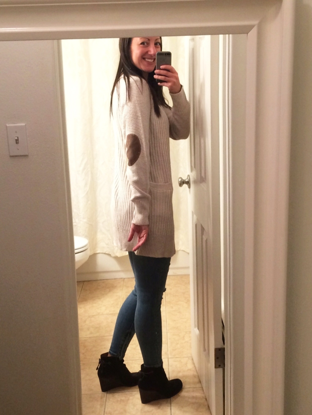 Stitch Fix #6: Patch Sweater | THE REAL LIFE Blog | fashion, fitness, food, lifestyle, Colorado