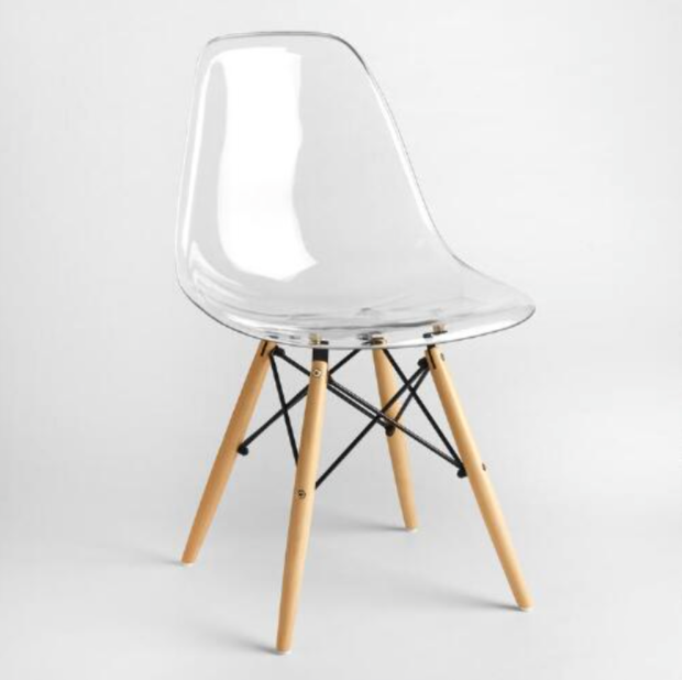 Clear molded Evie chair from World Market