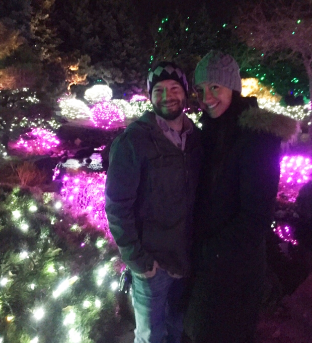 us-and-purple-lights-denver-botanic-gardens-blossoms-of-light