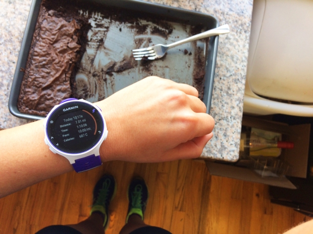 garmin-watch-and-brownies