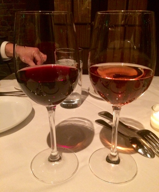 Barbera and rose at Barolo Grill Denver