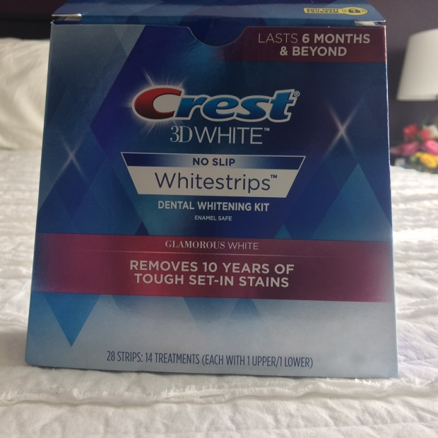 Crest 3D Whitestrips Glamorous White beauty product review | THE REAL LIFE blog | Food, fitness, fashion, and fun in Colorado