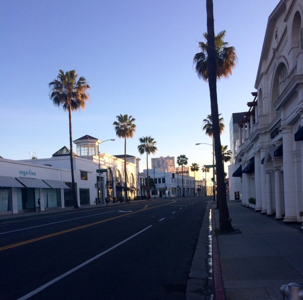 Early morning run down Rodeo Drive
