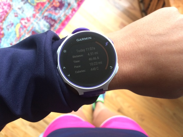 Garmin Forerunner GPS watch, running, half marathon training, food and fitness blog