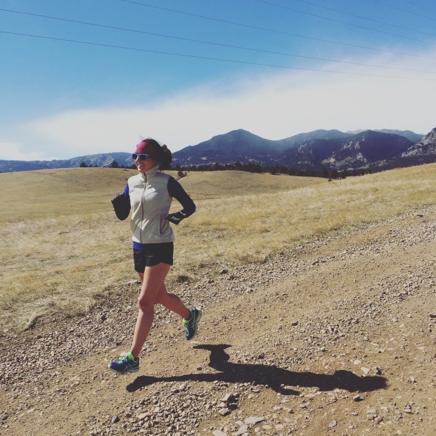 Running at Flatirons Trailhead near Boulder, half marathon training, food and fitness blog