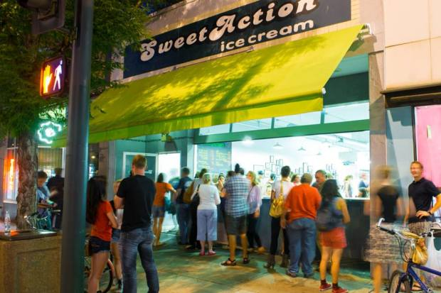 Sweet Action Ice Cream on South Broadway, Denver Colorado
