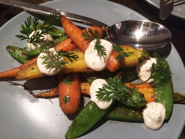 Grilled Carrots + Peas_Annette Scratch to Table restaurant in Stanley Marketplace, Aurora Denver Colorado